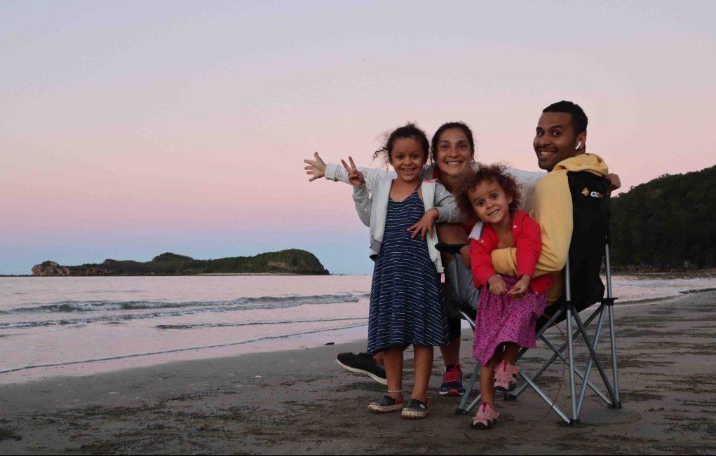famille en australie en voyage