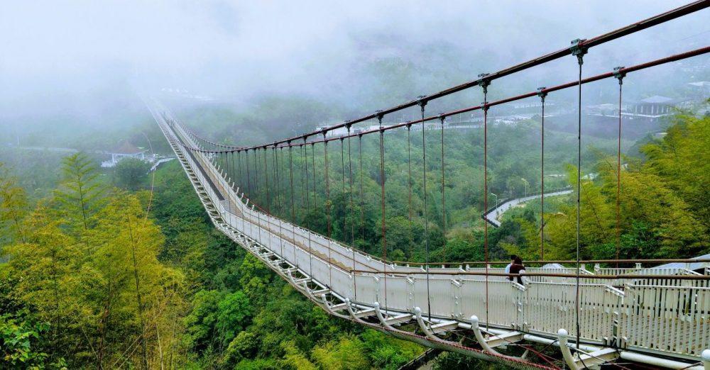 pont suspendu dans nature