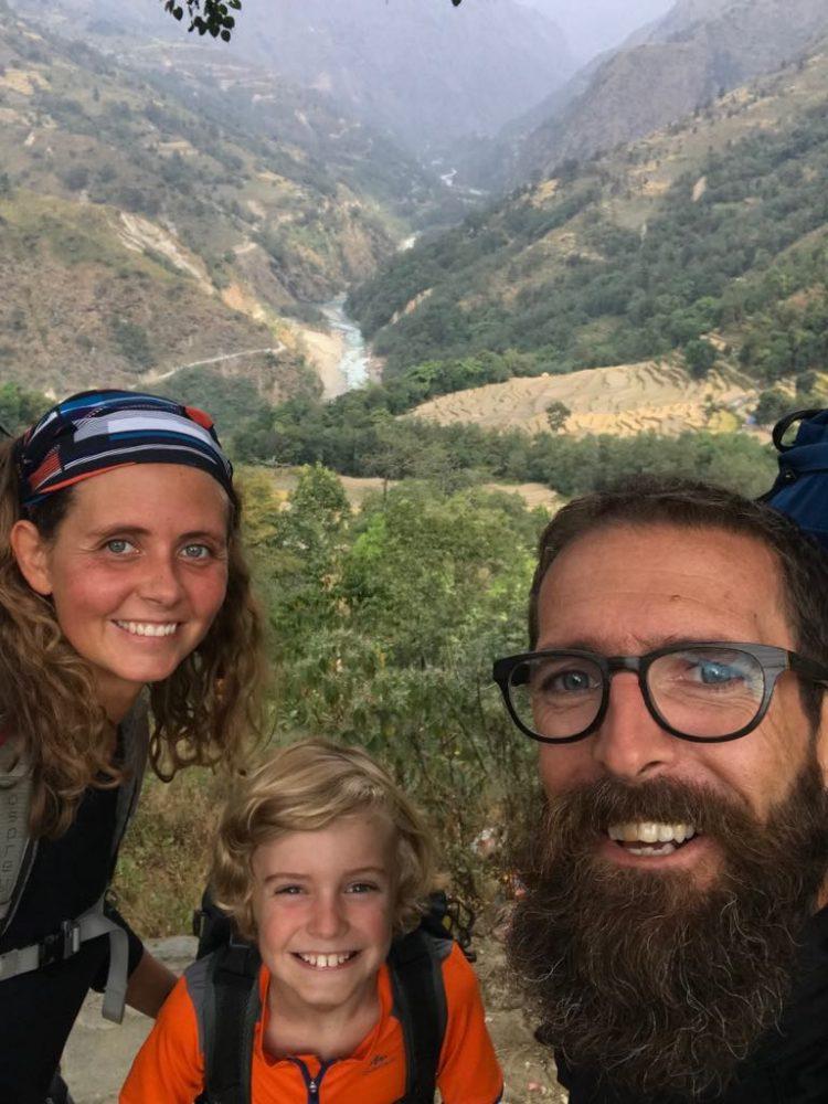 famille trek annapurnas nepal