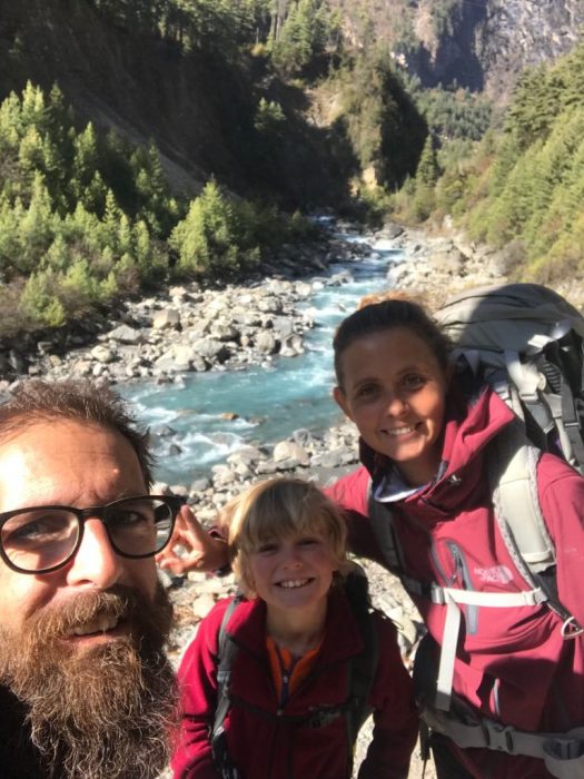 famille trek annapurnas
