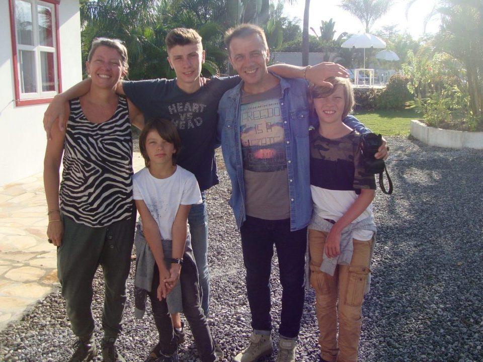Famille en voyage au brésil