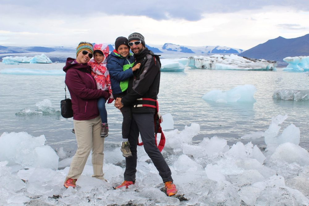 famille sur glace islande