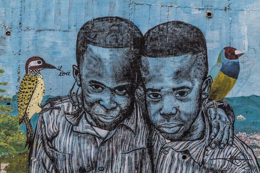 Medellin street art en colombie
