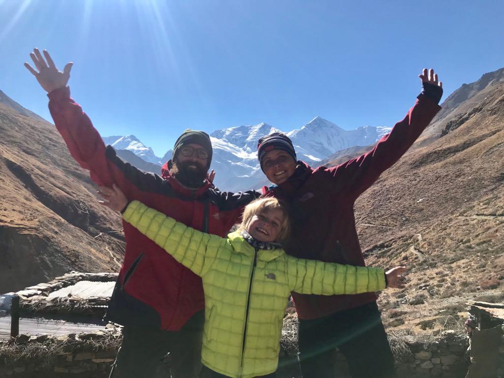 famille trek nepal