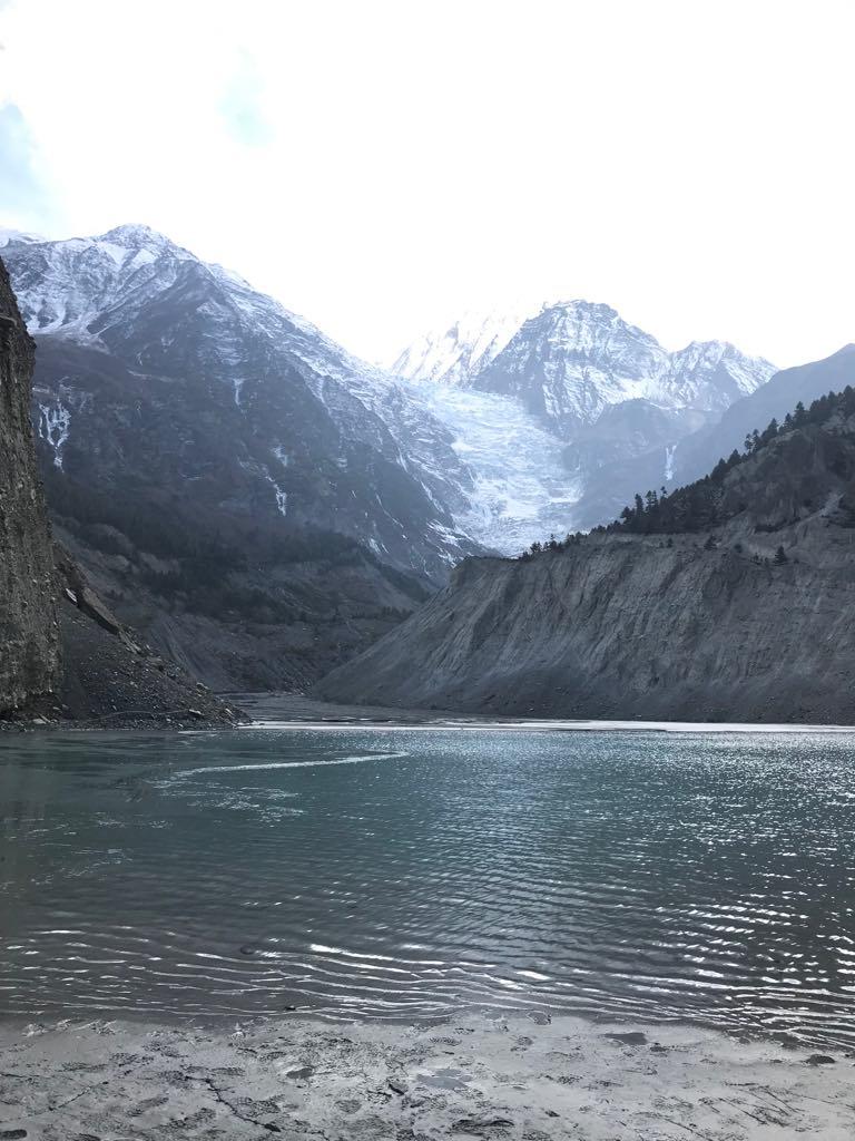 vue nepal glacier