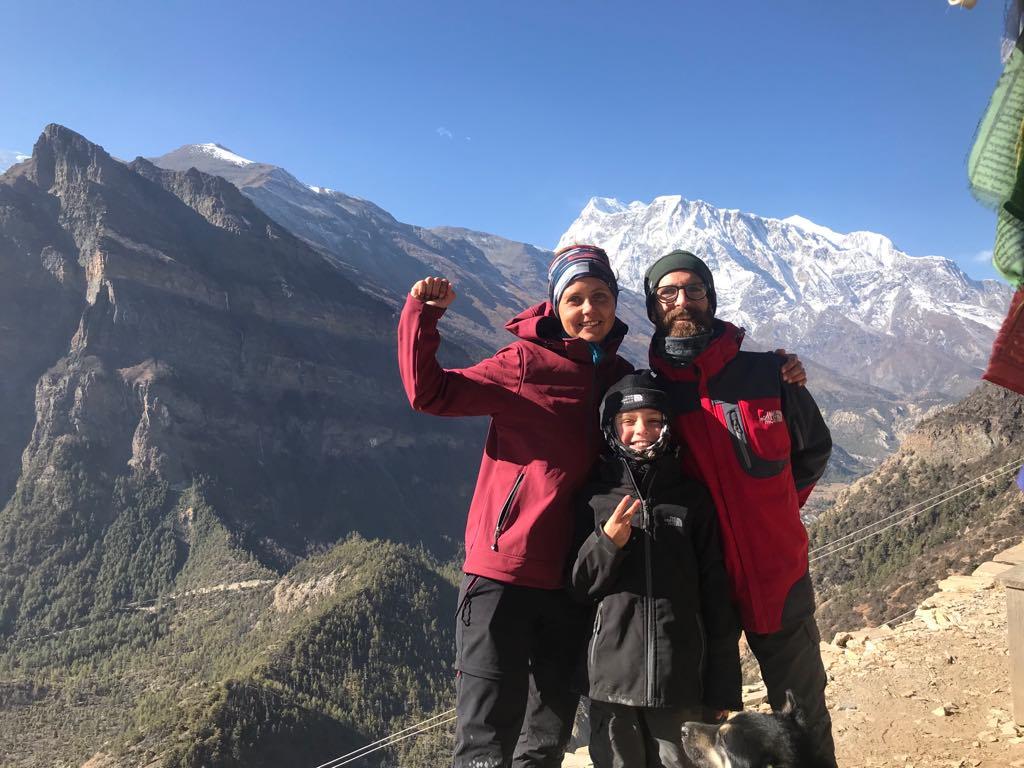 famille népal trek