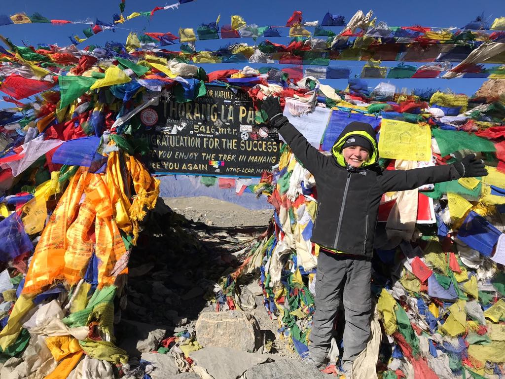 thorang la pass nepal enfant