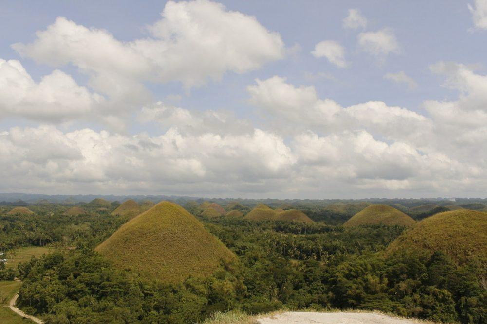 montagne de chocolat de bohol aux philippines
