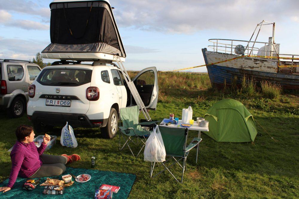 4x4 tente sur toit islande