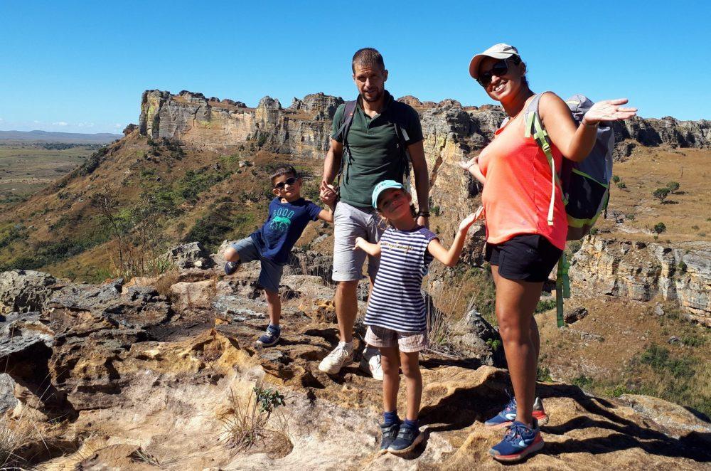 famille madagascar en voyage avec 2 enfants