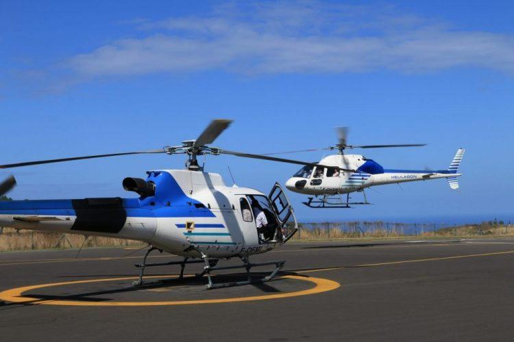 vol en hélicoptère au dessus de l'ile de la réunion