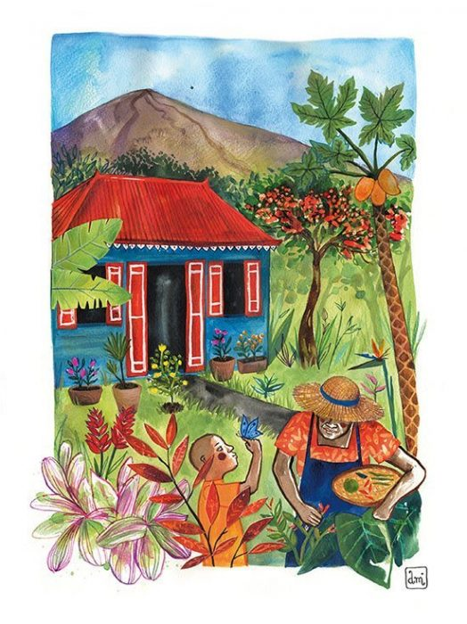 illustration ile de la réunion