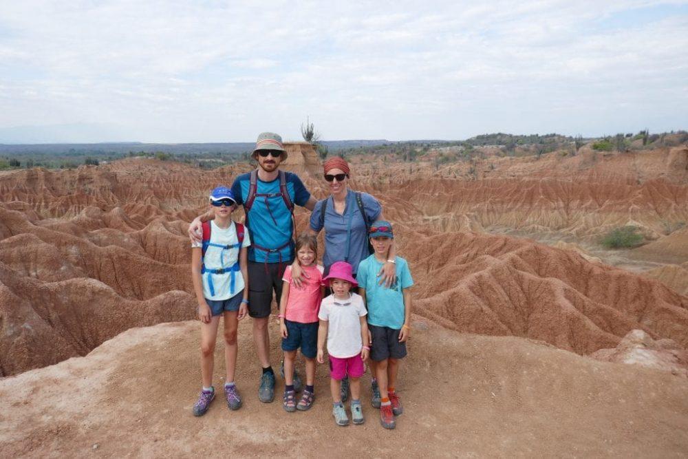 famille désert rouge de tataoca