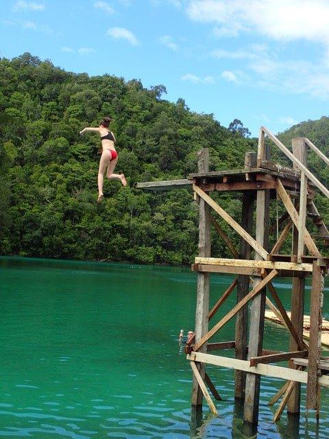 Sugba lagoon aux philippines