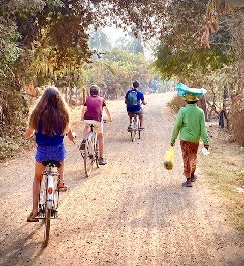 velo voyage en famille cambodge