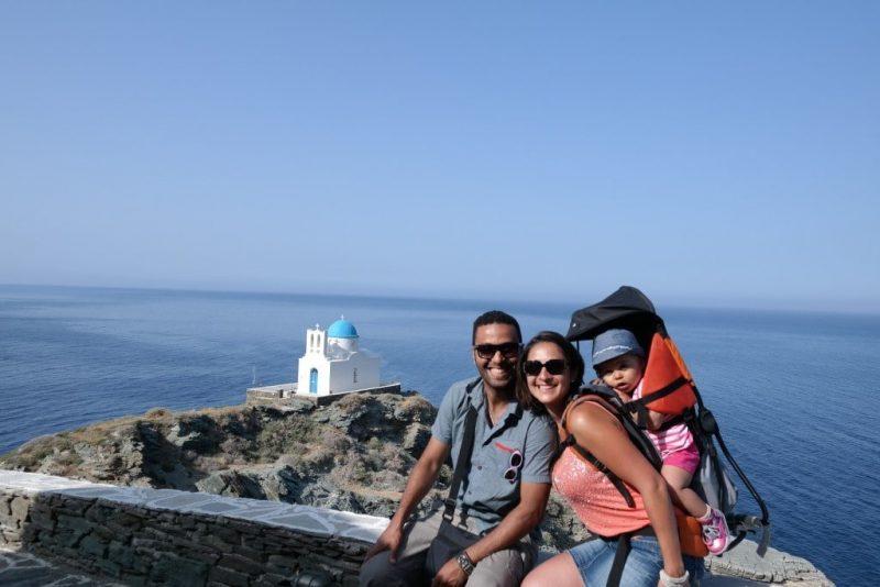 voyage dans les cyclades avec un bébé