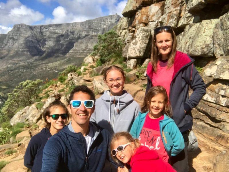 Famille en afrique du sud lion head