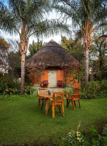 cabane ronde en afrique du sud