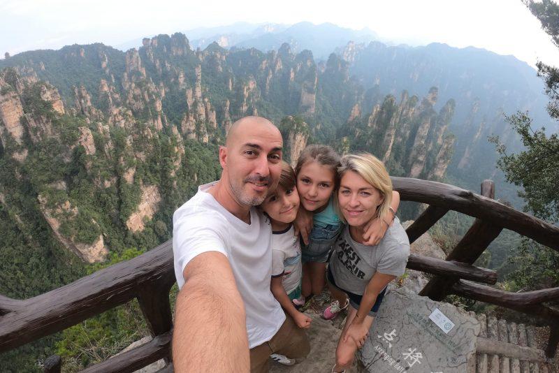 montagne en chine en famille