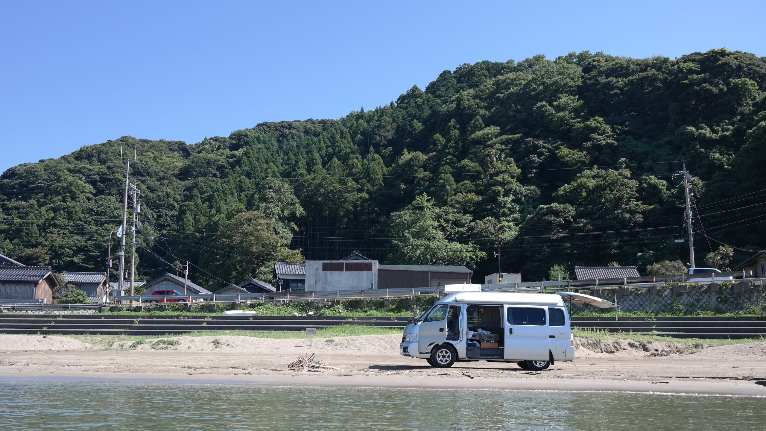 van au bord de l'eau japon