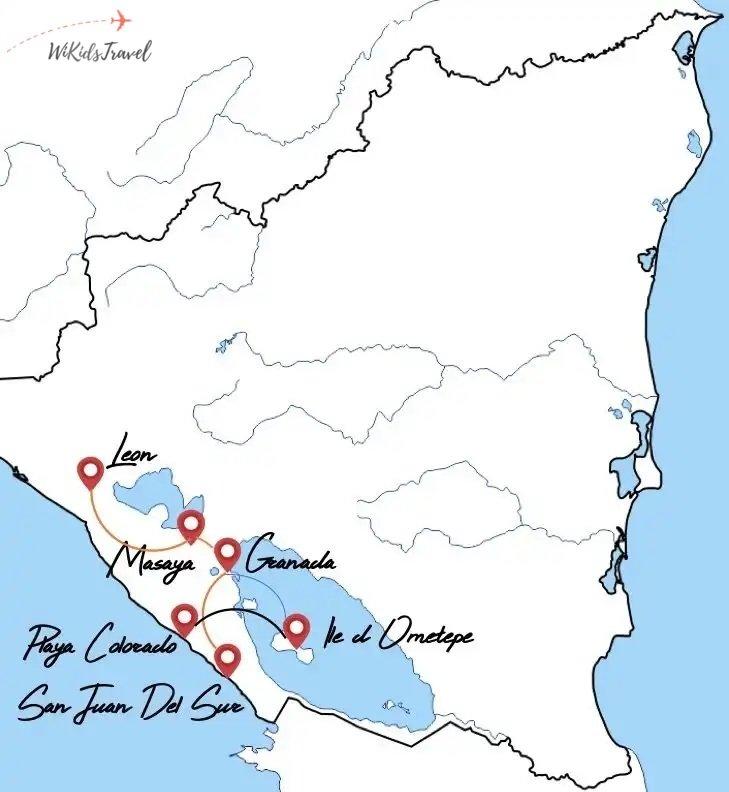 itinéraire 1 mois Nicaragua voyage en famille