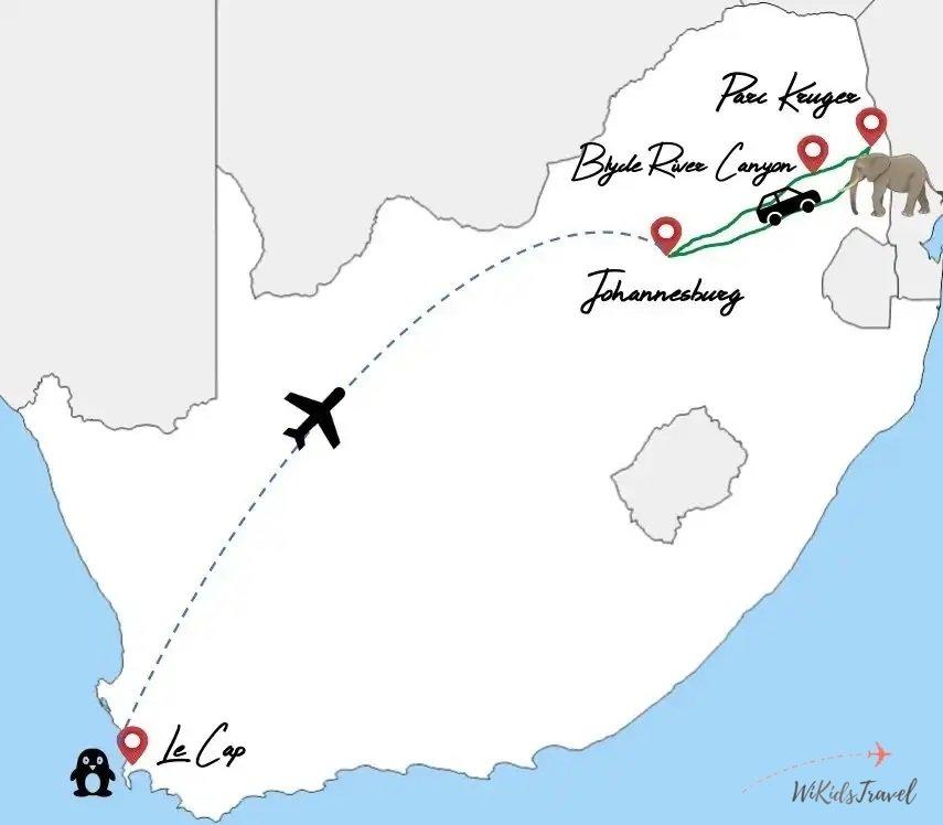 Itinéraire afrique du sud en famille