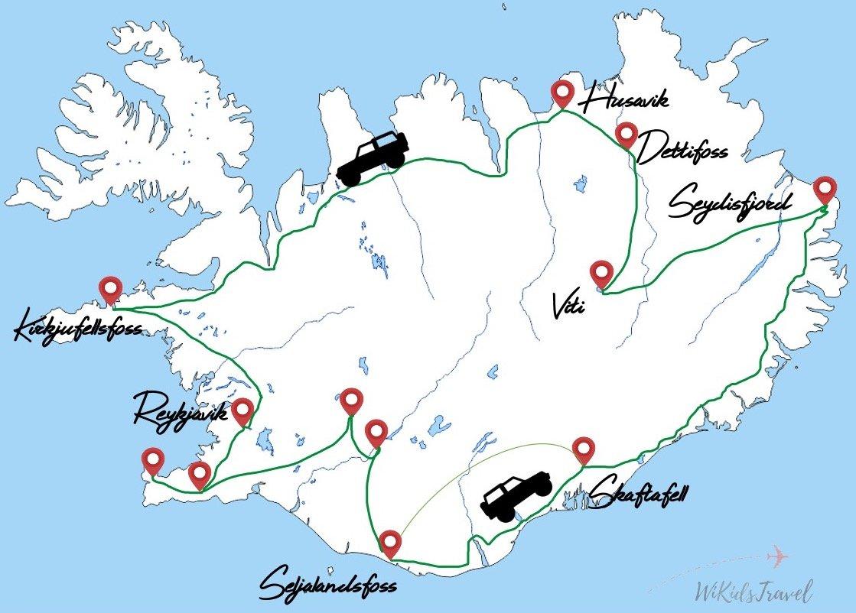 15 jours en islande avec deux enfants 4x4 tente sur toit