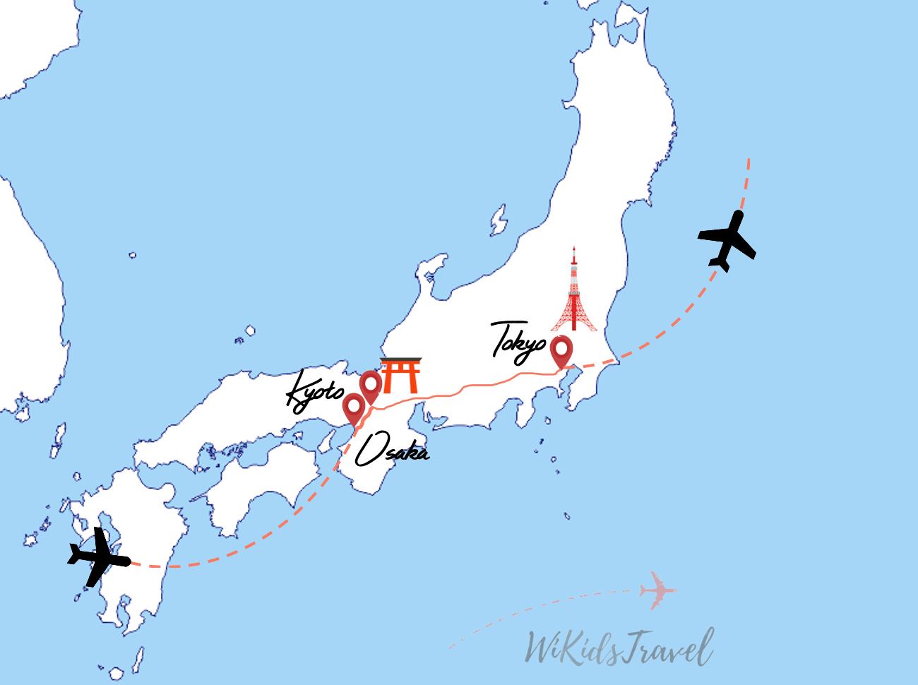 Itinéraire 18 jours au Japon avec 3 enfants