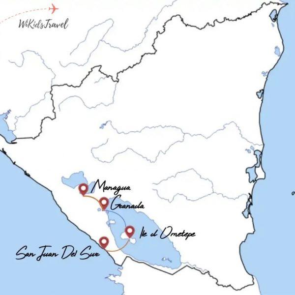 itinéraire Nicaragua en famille