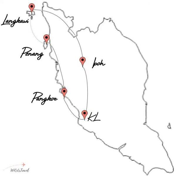 itinéraire Malaisie en famille