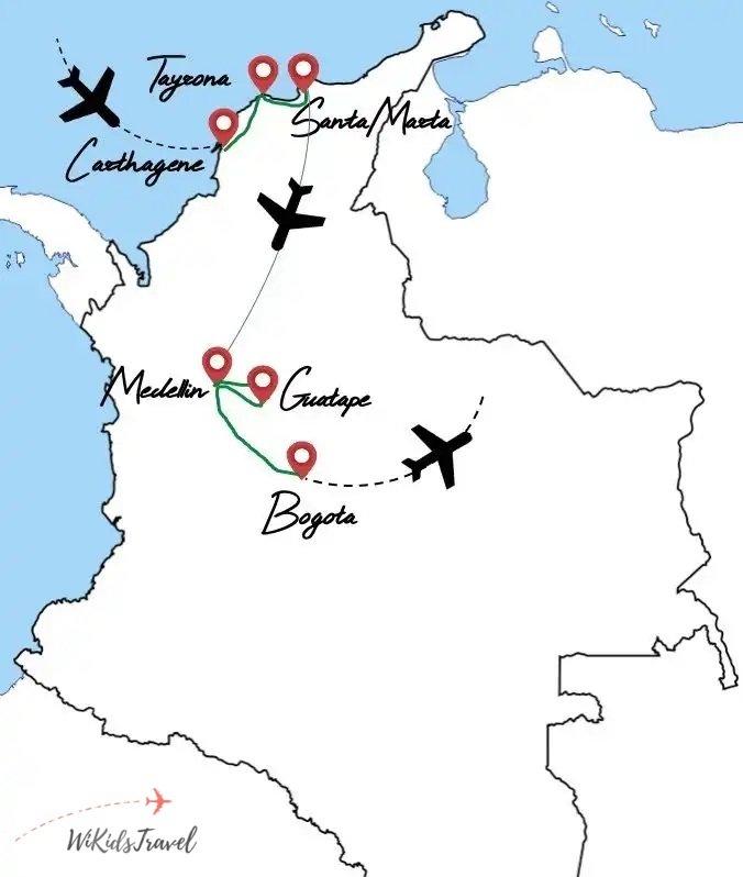 itinéraire Colombie famille voyage