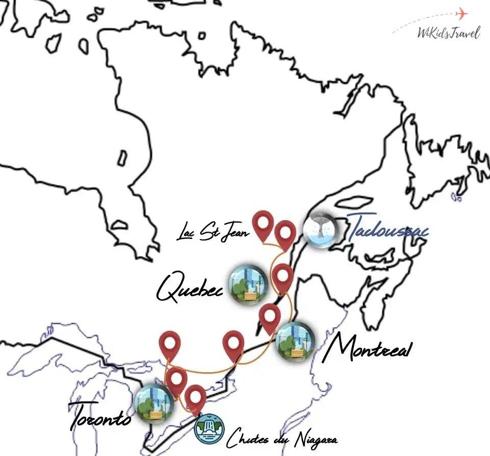 itinéraire 1 mois road trip Canada voyage en famille