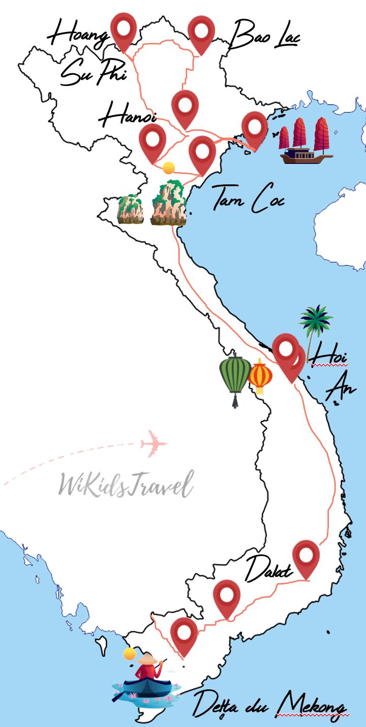 itinéraire 7 semaines au vietnam avec 2 enfants
