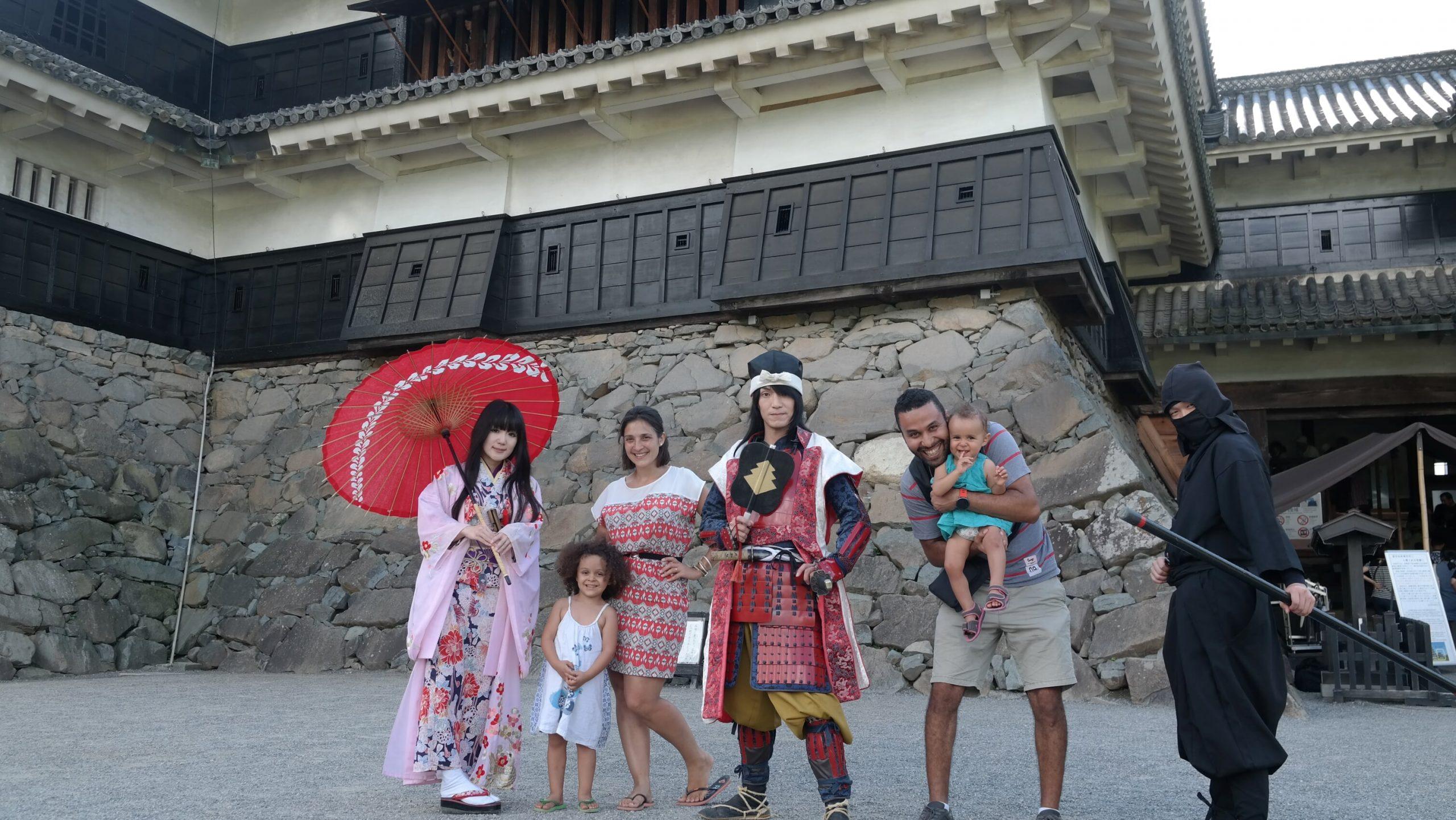 famille avec ninjas japon