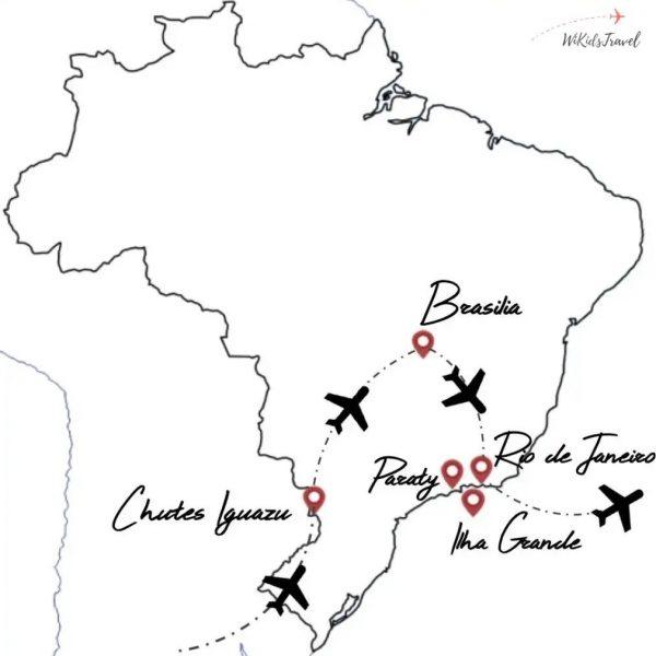 itinéraire Brésil voyage en famille
