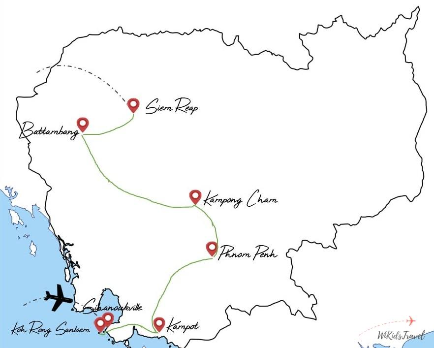 itinéraire Cambodge voyage en famille