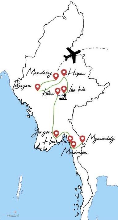 itinéraire Myanmar Birmanie voyage en famille