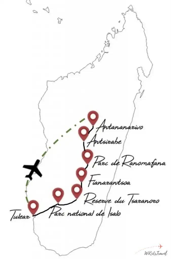 itinéraire Madagascar en famille