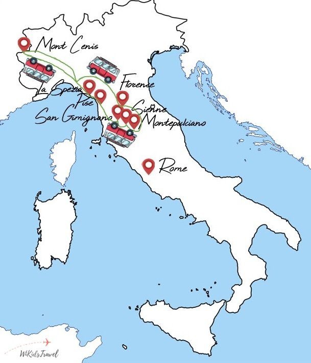 Itineraire Toscane Italie famille