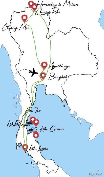 itinéraire thailande avec deux enfants 7 semaines