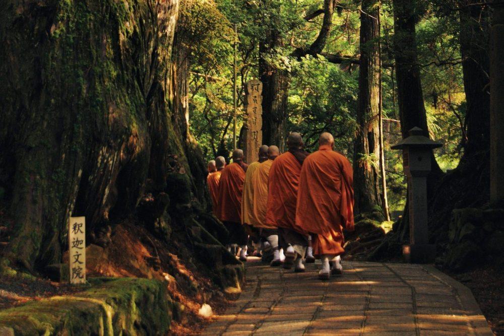 Koya San moines au Japon