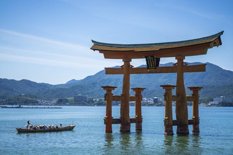 torii flottant miyajima hirochima