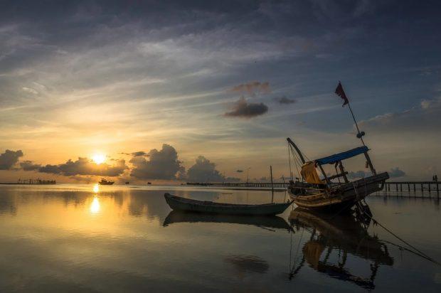 ile de phu quoc coucher de soleil avec bateau