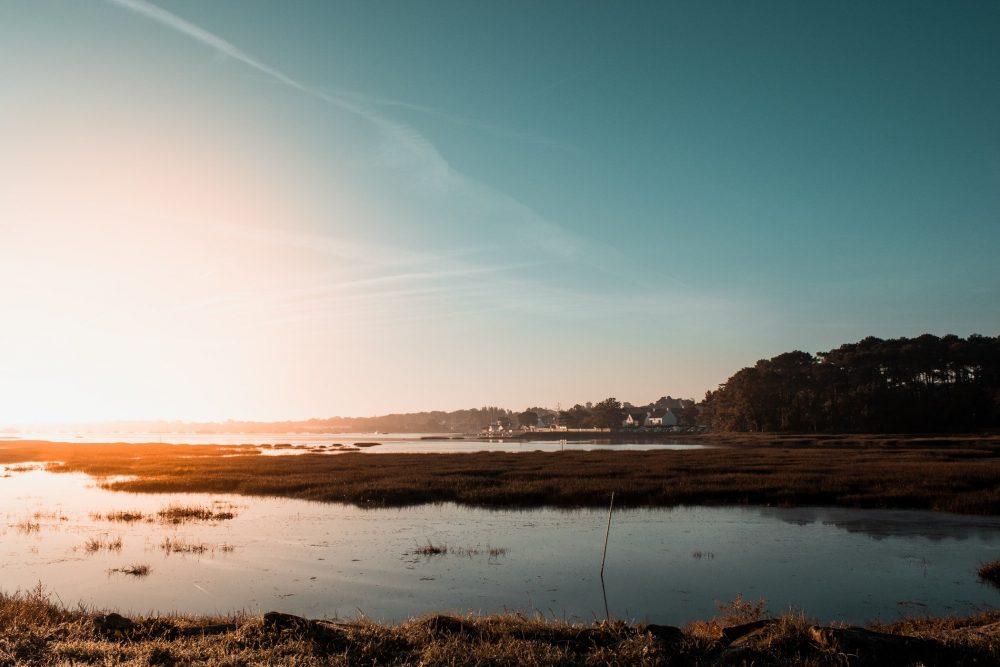 Coucher de soleil golfe morbihan
