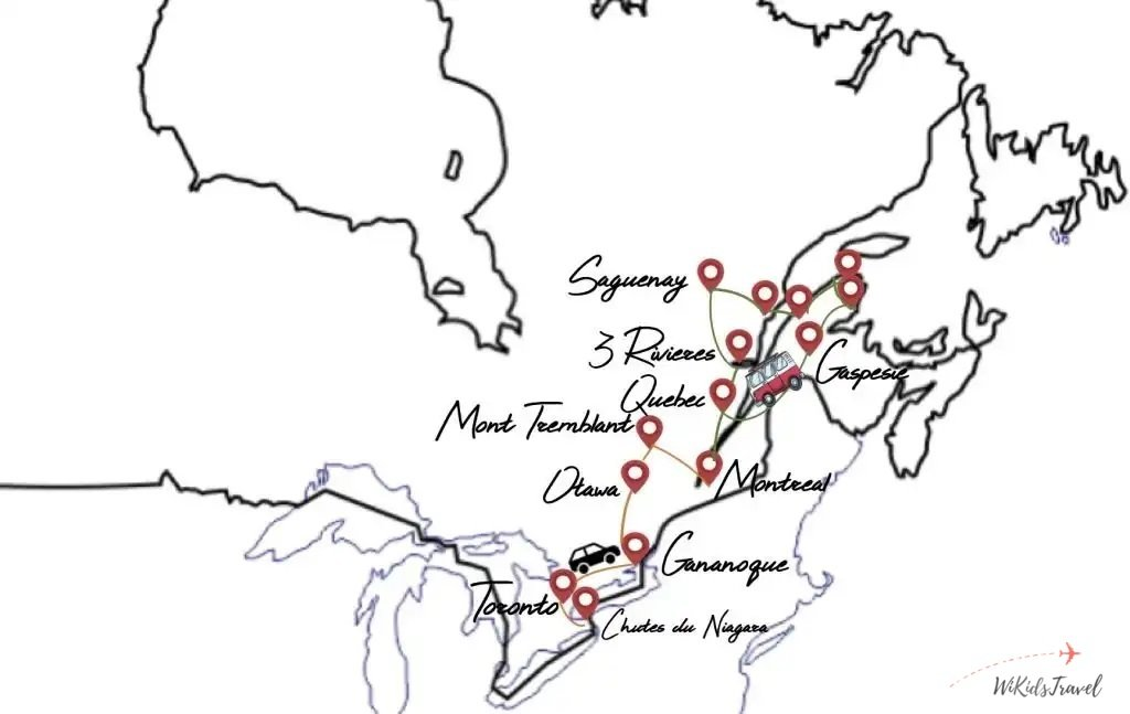 itinéraire 1 mois road trip Canada famille