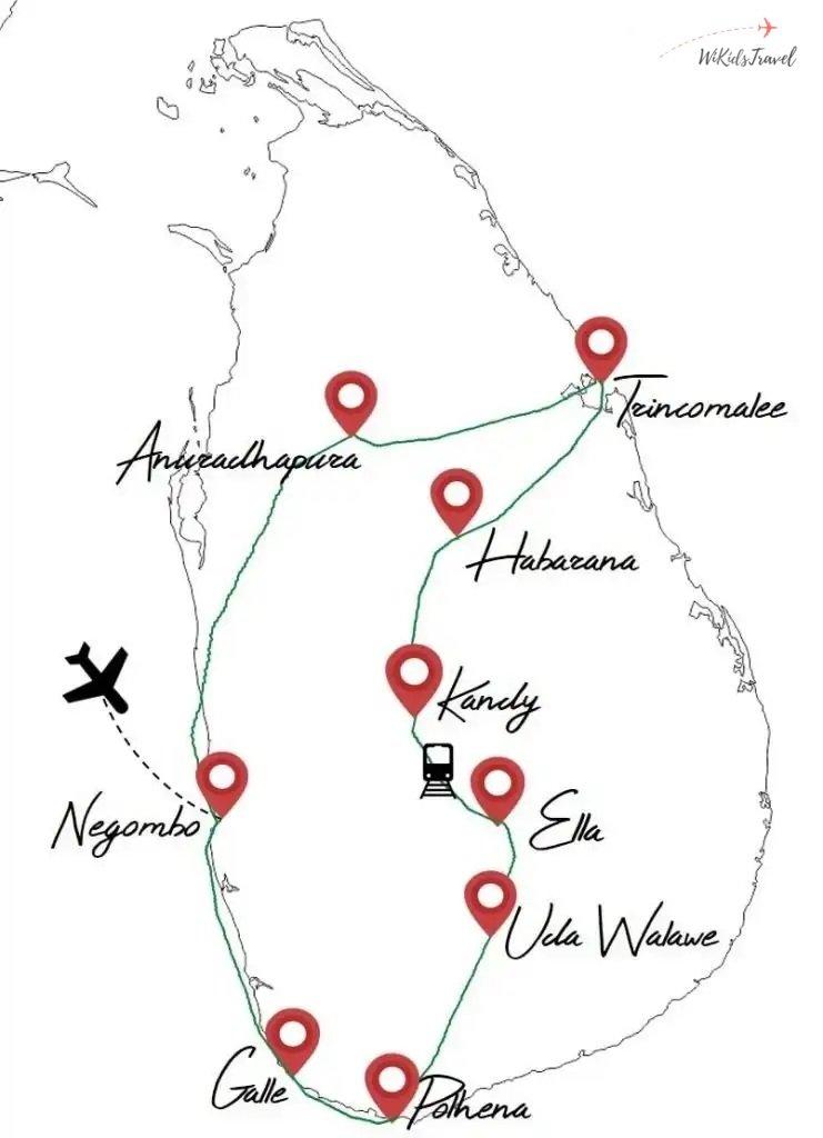 itinéraire Sri Lanka road trip voyage en famille