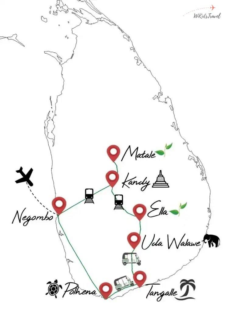 itinéraire Sri Lanka voyage en famille