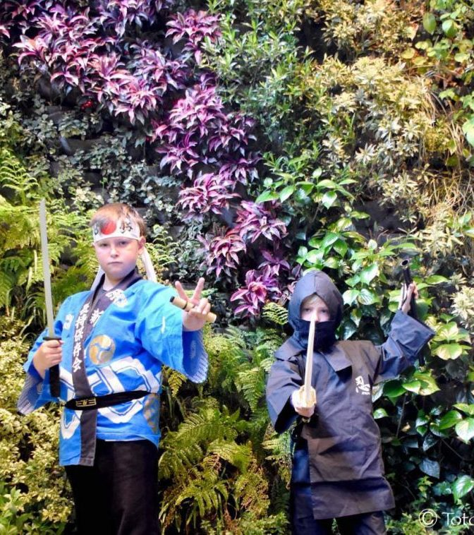 deux enfants ninjas