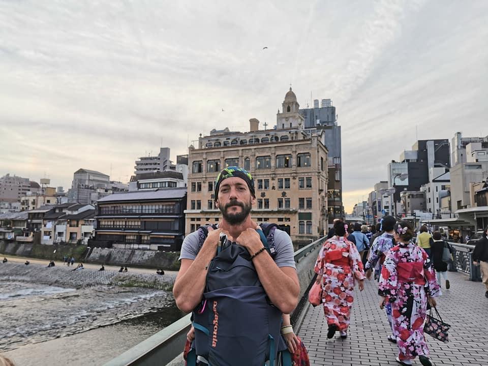 Famille en voyage au japon