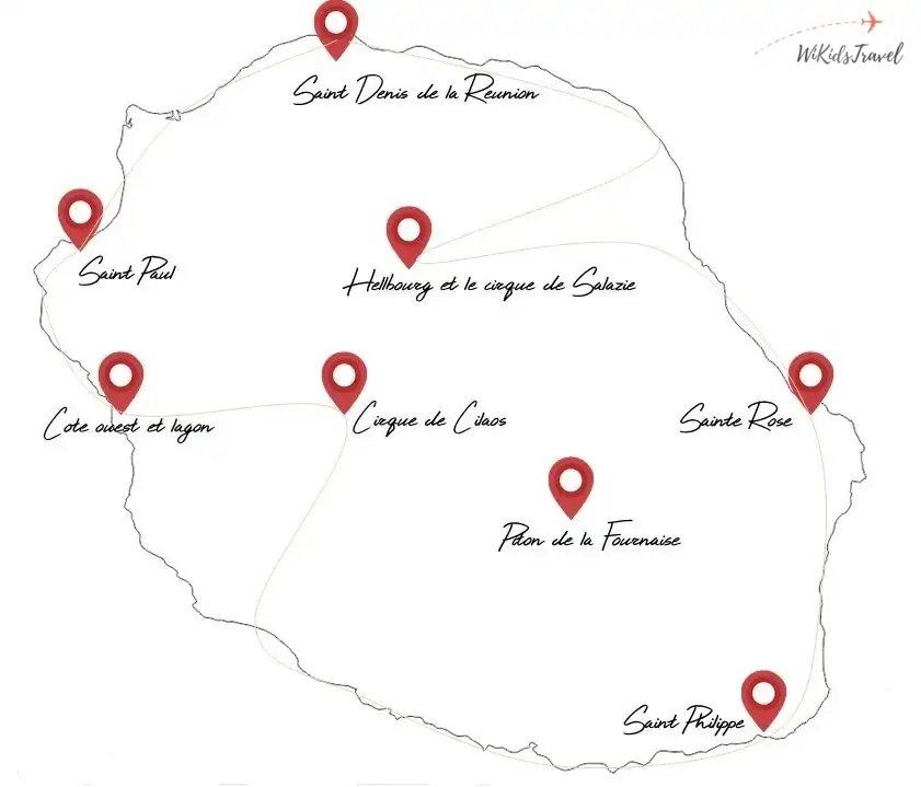 itinéraire road trip Réunion voyage en famille